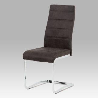 Jídelní židle DCH-451 GREY3, šedá/chrom