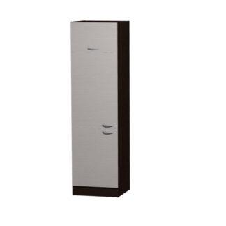 NELA skříňka pro vestavnou lednici CH 60, korpus dub tmavý/dvířka woodline creme