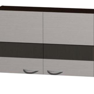 NELA horní vitrína H 100 Z, korpus dub tmavý/dvířka woodline creme