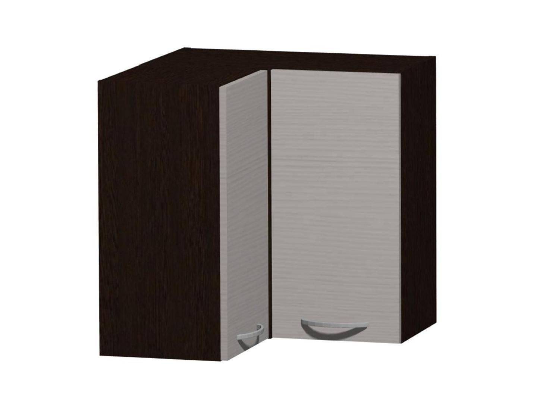 NELA horní rohová skříňka H 60 RM, korpus dub tmavý/dvířka woodline creme