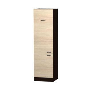 NELA skříňka pro vestavnou lednici CH 60, korpus dub tmavý/dvířka jasan coimbra