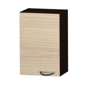 NELA horní skříňka H 40, korpus dub tmavý/dvířka jasan coimbra