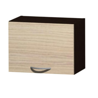 NELA horní skříňka H 50 N, korpus dub tmavý/dvířka jasan coimbra