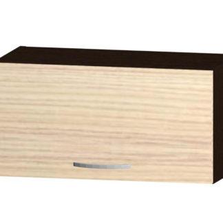 NELA horní skříňka H 60 NN, korpus dub tmavý/dvířka jasan coimbra