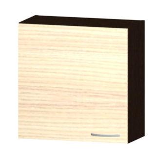 NELA horní skříňka H 60, korpus dub tmavý/dvířka jasan coimbra