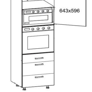SOLE vysoká skříň DPS60/207 SAMBOX pravá, korpus wenge, dvířka bílý lesk