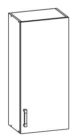 SOLE horní skříňka G45/95 pravá, korpus šedá grenola, dvířka bílý lesk