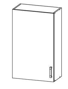 SOLE horní skříňka G60/95 levá, korpus wenge, dvířka dub arlington