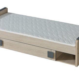 GIMMI, postel s úložným prostorem G13 bez matrace, dub santana/šedá