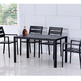 GURDUK jídelní set 1 + 4, černý
