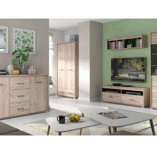 RONSE obývací pokoj, dub san remo světlý/šedý wolfram