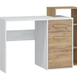 Psací stůl P RIO 04, craft bílý/craft zlatý