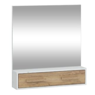 Zrcadlo RIO 10, craft bílý/craft zlatý