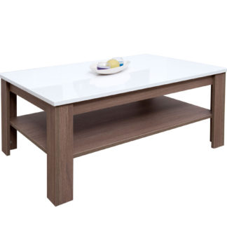 VENETO konferenční stolek, OŘECH TABACCO / BÍLÁ LESK