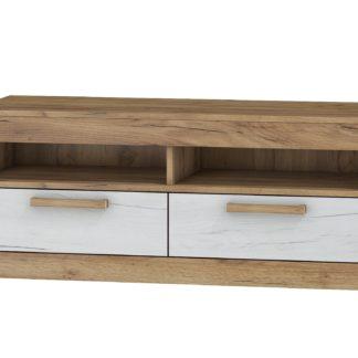 TV stolek 2S MAXIMUS 34, craft zlatý/craft bílý