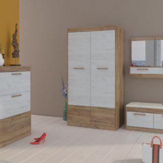 MAXIMUS předsíňová stěna 15, craft zlatý/craft bílý