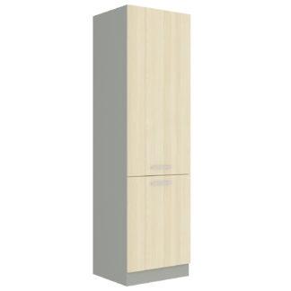 EKO AKACJA, skříňka vysoká 60 DK-210 2F, šedá/akácie