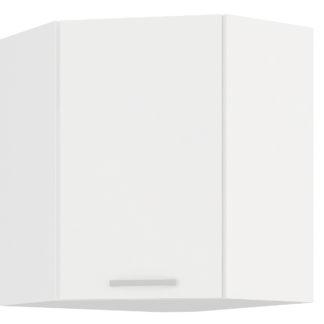 EKO WHITE, skříňka horní rohová 59/59 cm, 60/60 NAR G-72, bílá