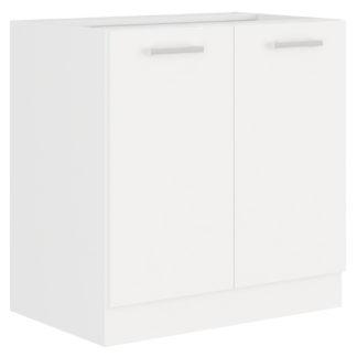 EKO WHITE, skříňka dolní 80 D 2F BB, bílá