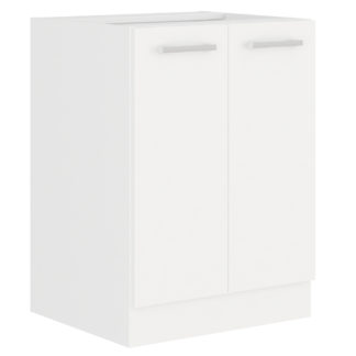 EKO WHITE, skříňka dolní 60 D 2F BB, bílá
