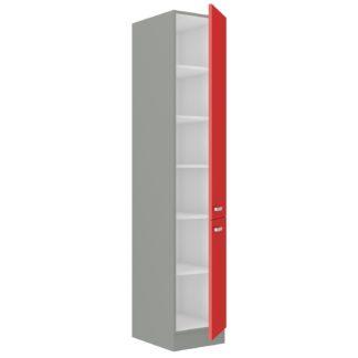 ROSE, skříňka vysoká 40 DK-210 2F, šedá / červený lesk