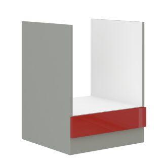ROSE, skříňka pro vestavnou troubu 60 D GAZ BB, šedá / červený lesk