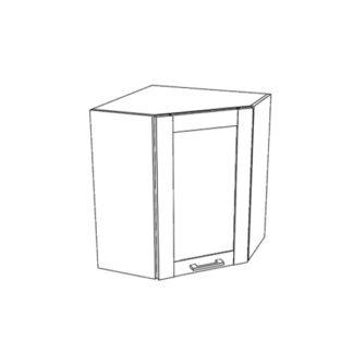 JAMAJKA horní rohová skříňka G60NW, korpus dub wotan, dvířka dub wotan
