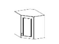 CHAMONIX, skříňka horní rohová 58/58 cm, GN-72 1F, dub Ferrara