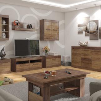 MAXIMUS obývací pokoj 2, craft tobaco/craft zlatý