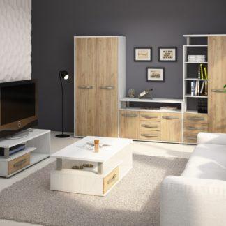 Obývací pokoj ANGEL 6, craft bílý/craft zlatý