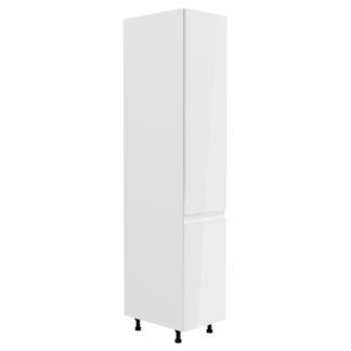 ASPEN, vysoká skříňka D40SP pravá, bílá/bílý lesk