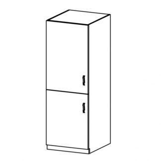 LUNA, skříňka na vestavnou lednici D60ZL levá, dub sonoma/ecru