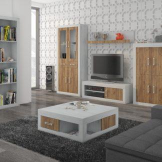 Obývací stěna VERIN 11, craft bílý/craft zlatý