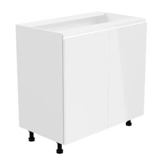 ASPEN, skříňka dolní D80, bílá/bílý lesk