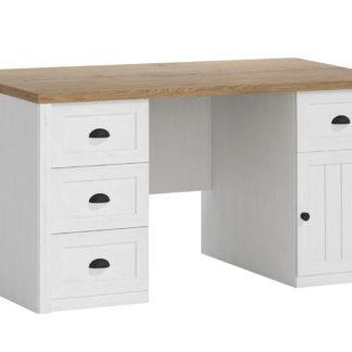 PROVANS B1 psací stůl, borovice andersen/dub lefkas