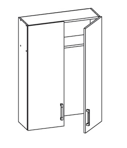 EDAN horní skříňka GC80/95, korpus šedá grenola, dvířka béžová písková