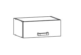EDAN horní skříňka NO40/23, korpus šedá grenola, dvířka dub reveal