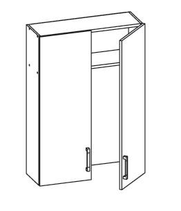 PLATE PLUS horní skříňka GC80/95, korpus šedá grenola, dvířka světle šedá