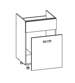 PLATE PLUS dolní skříňka DKS60 SMARTBOX pod dřez, korpus ořech guarneri, dvířka bílá perlová