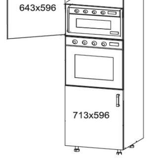 PLATE PLUS vysoká skříň DPS60/207, korpus wenge, dvířka bílá perlová