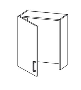 PLATE PLUS horní skříňka GC60/72, korpus wenge, dvířka bílá perlová