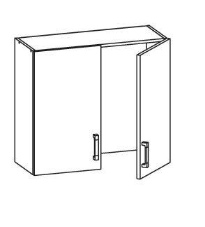 PLATE PLUS horní skříňka GC80/72, korpus šedá grenola, dvířka světle šedá