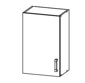 PLATE PLUS horní skříňka G45/72, korpus wenge, dvířka bílá perlová