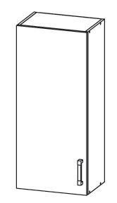 PLATE PLUS horní skříňka G45/95, korpus ořech guarneri, dvířka světle šedá
