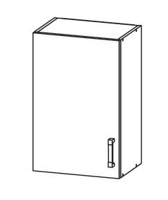 PLATE PLUS horní skříňka G50/72, korpus šedá grenola, dvířka světle šedá