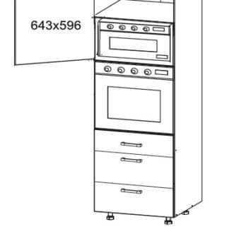 PLATE PLUS vysoká skříň DPS60/207 SAMBOX, korpus wenge, dvířka bílá perlová