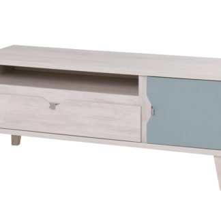 MEMONE televizní stolek, dub bílý