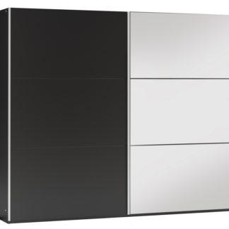 Šatní skříň VIGO 250, černá/černá