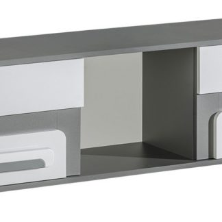 Závěsná skříňka APETTITA 10, antracit/bílá