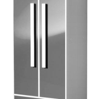 Šatní skříň GULLIWER 1, bílá/šedá lesk